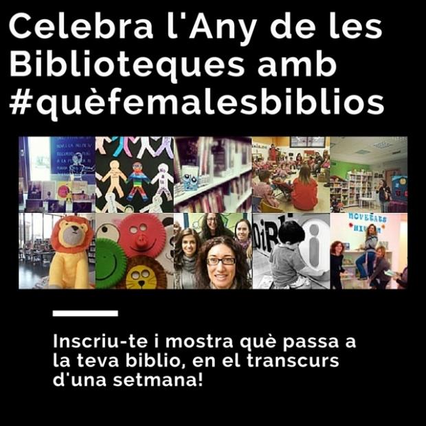 Celebra l'Any de les Biblioteques amb nosaltres